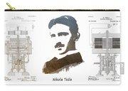 electric generator patent art Nikola Tesla Carry-all Pouch