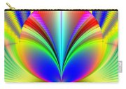 Electric Rainbow Orb Fractal Carry-all Pouch
