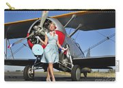 Elegant 1940s Style Pin-up Girl Carry-all Pouch