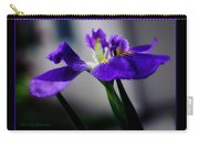 Elegant Iris With Black Border Carry-all Pouch