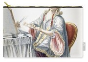 Elegant Lady At Her Dressing Table Carry-all Pouch by Pierre Thomas Le Clerc