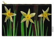Elegant Yellow Flowers On Green Shoots Carry-all Pouch