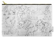 Elephant Acts, 1880s Carry-all Pouch