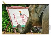 Elephant Artist In Mae Taeng Elephant Park Near Chiang Mai-thailand Carry-all Pouch