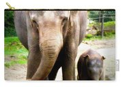 Elephant Baby Olli With Mommy Carry-all Pouch
