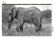 Elephant Bull In Black And White Carry-all Pouch