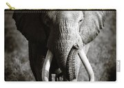 Elephant Bull Carry-all Pouch by Johan Swanepoel