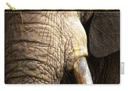 Elephant Close-up Portrait Carry-all Pouch by Johan Swanepoel
