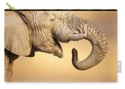 Elephant Drinking Carry-all Pouch