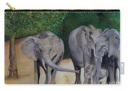 Elephant Family Gathering Carry-all Pouch