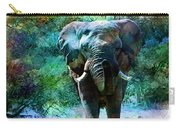 Elephant - Featured In Comfortable Art- Wildlife- And Nature Wildlife Groups Carry-all Pouch