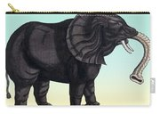 Elephant From The Historiae Animalium 16th Century Carry-all Pouch