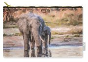 Elephant Mother And Calf Carry-all Pouch