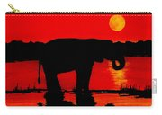 Elephant Silhouette African Sunset Carry-all Pouch
