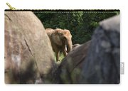 Elephant Spotted Between Rocks Carry-all Pouch