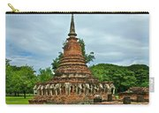 Elephant Stupa At Wat Sarasak In Sukhothai Historical Park-thailand Carry-all Pouch