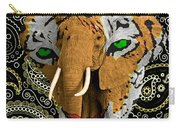Elephant Tiger Carry-all Pouch