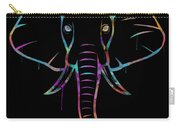 Elephant Watercolors - Black Carry-all Pouch
