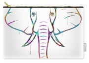 Elephant Watercolors - White Background Carry-all Pouch