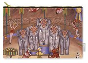 Elephants And Acrobats Carry-all Pouch