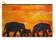 Elephants At Sunset Carry-all Pouch