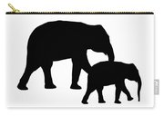 Elephants In Black And White Carry-all Pouch