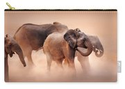 Elephants In Dust Carry-all Pouch