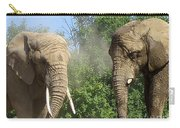 Elephants In The Sand Carry-all Pouch
