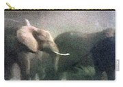 Elephants On The Move Carry-all Pouch