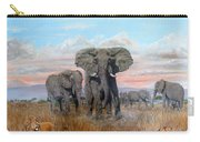 Elephants Warning To The Lions Carry-all Pouch