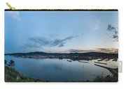Elevated View Of A Harbor At Sunset Carry-all Pouch