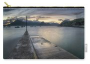 Elgol Pier And Boats With Cuillin Carry-all Pouch