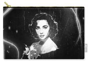 Elizabeth Taylor - Black And White Film Carry-all Pouch by Absinthe Art By Michelle LeAnn Scott