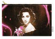 Elizabeth Taylor - Pink Film Carry-all Pouch by Absinthe Art By Michelle LeAnn Scott