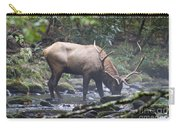 Elk Drinking Water From A Stream Carry-all Pouch
