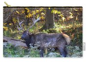 Elk In Autumn Meadow Carry-all Pouch