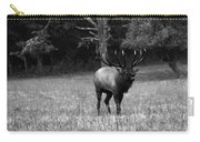 Elk In Black And White Carry-all Pouch