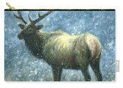Elk In Snow Flurries Carry-all Pouch