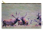 Elk On The Plains 2 Carry-all Pouch