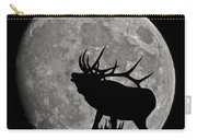 Elk Silhouette On Moon Carry-all Pouch