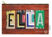 Ella License Plate Name Sign Fun Kid Room Decor. Carry-all Pouch