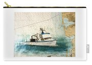 Elly Crab Fishing Boat Nautical Chart Map Art Carry-all Pouch