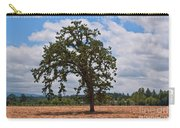 Elm Tree In Hay Field Art Prints Carry-all Pouch
