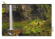 Elowah Falls Panorama -  Columbia River Gorge In Oregon Carry-all Pouch