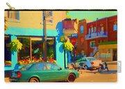 Elses Pub Cafe Plateau Montreal Corner Roy And De Bullion City Scene Art Of Montreal Carole Spandau Carry-all Pouch