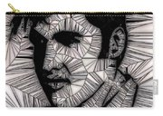 Elvis In Black And White  Carry-all Pouch