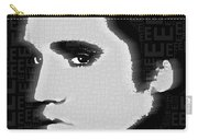 Elvis Presley Silhouette On Black Carry-all Pouch