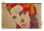 Elvis Presley Watercolor Portrait On Worn Distressed Canvas Carry-all Pouch