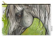 Emanda Polish Arabian Mare Watercolor Painting Carry-all Pouch