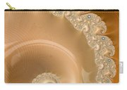 Embellished Blond Wood Carry-all Pouch